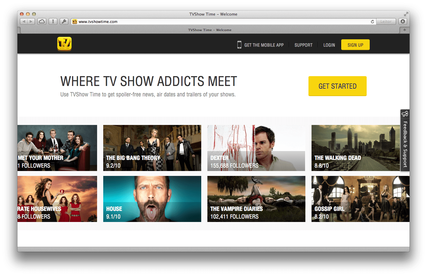 Photo of TVShow Time agora com Interface Web