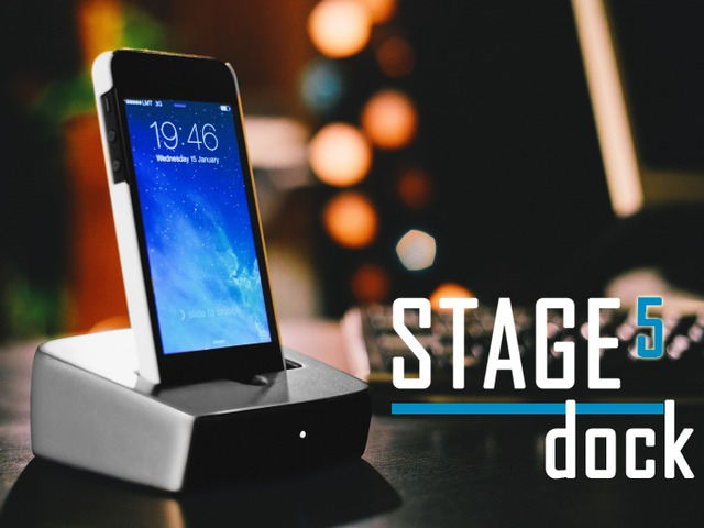 Photo of STAGE 5, dock com alto-faltante para iPhone