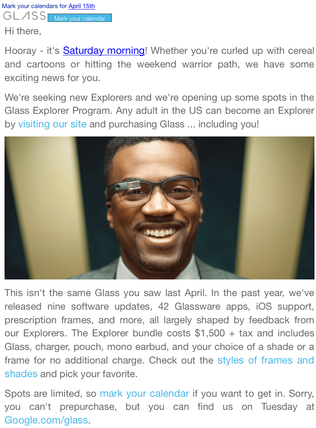 Photo of Google libera venda do Glass