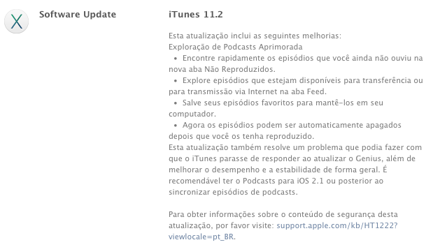 Photo of iTunes 11.2 na Área, podcasts