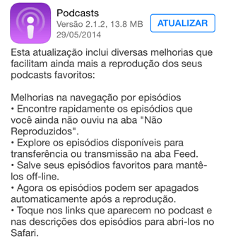 Photo of Podcasts 2.1.2 na Área, correção de bugs