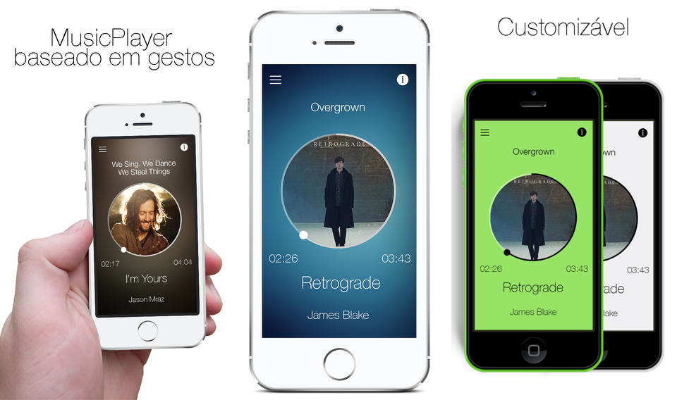 Foto de CoolPlayer, player de músicas e podcasts baseado em gestos