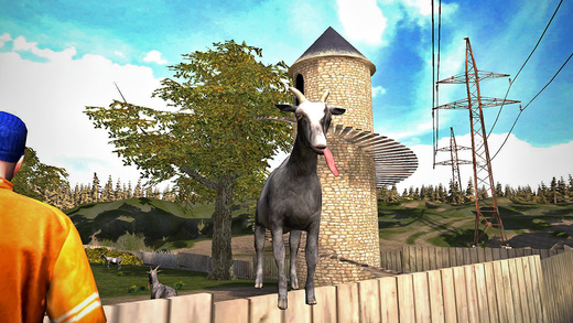 "Photo of Goat Simulator, game ""skateboarding"" para destruir o mundo"