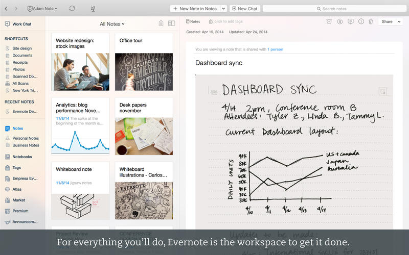 Photo of Evernote 6.0 na Área, look Yosemite
