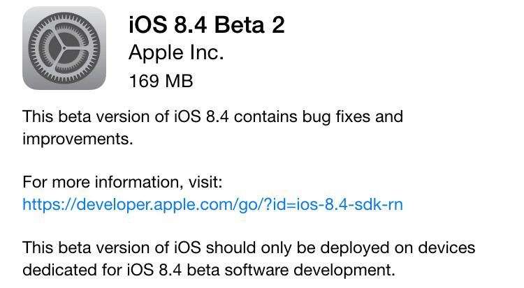 Photo of iOS 8.4 beta 2 para dev's na Área