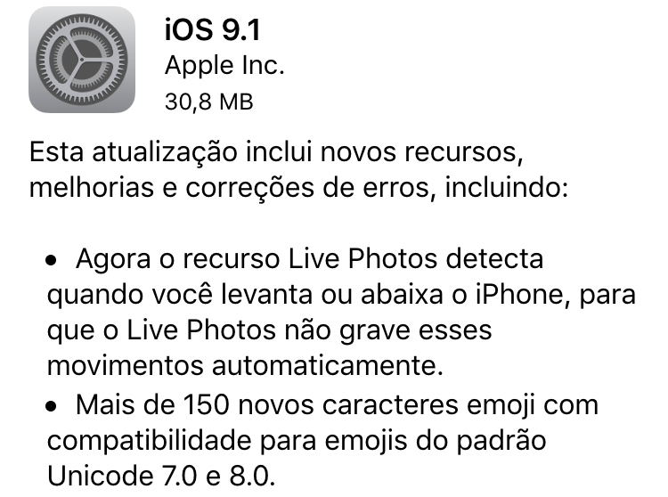 Photo of iOS 9.1, El Capitan 10.11.1, watchOS 2.0.1, tvOS GM, iTunes 12.3.1na Área, novos emojis