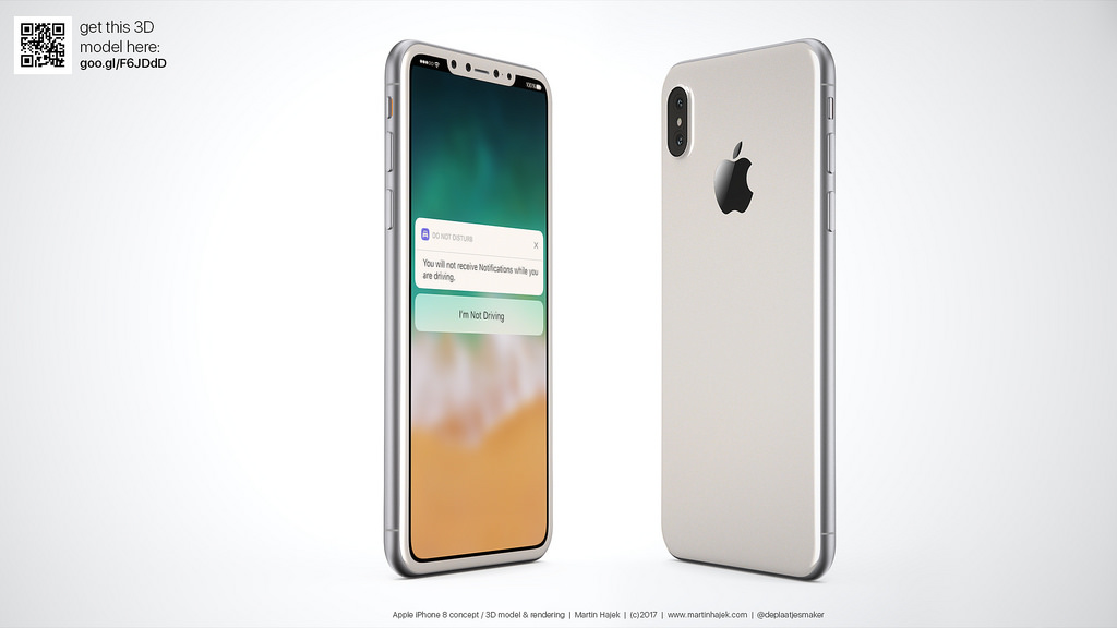 "Photo of Conceito ""Realístico"" de iPhone 8 Branco"