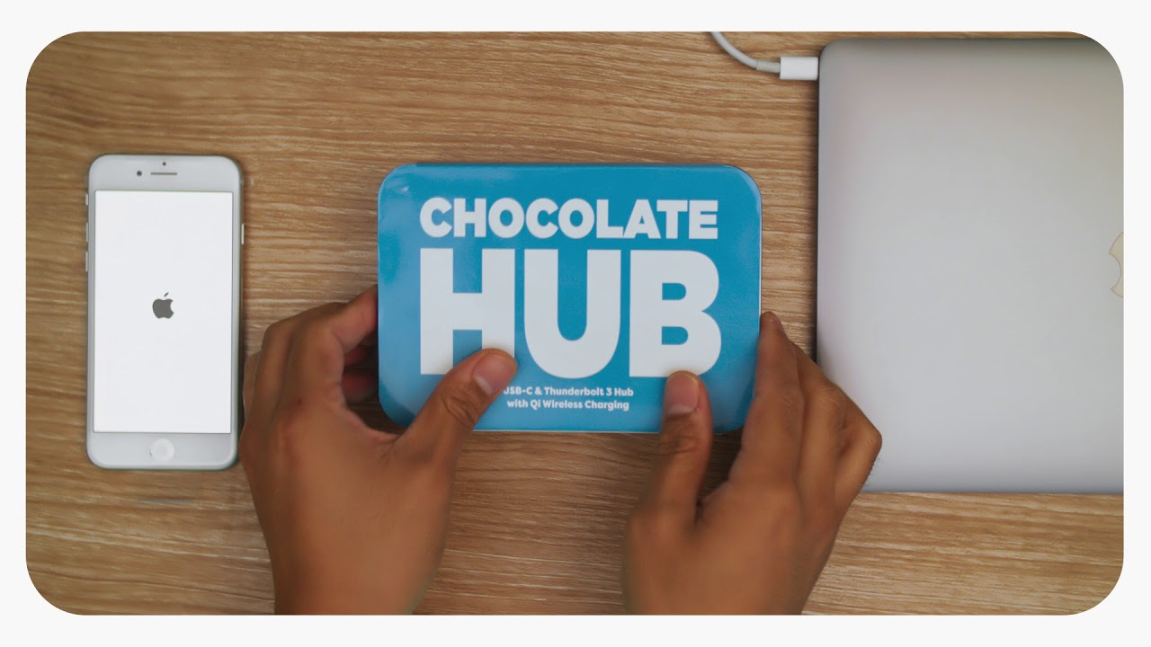 Photo of Chocolate Hub 2: Qi, USB-C dados e energia, HDMI, Thunderbolt, USB 3 e Leitor SD