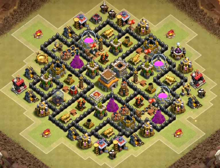 Best th8 war bases anti gowipe with bomb tower 2016 cocbases