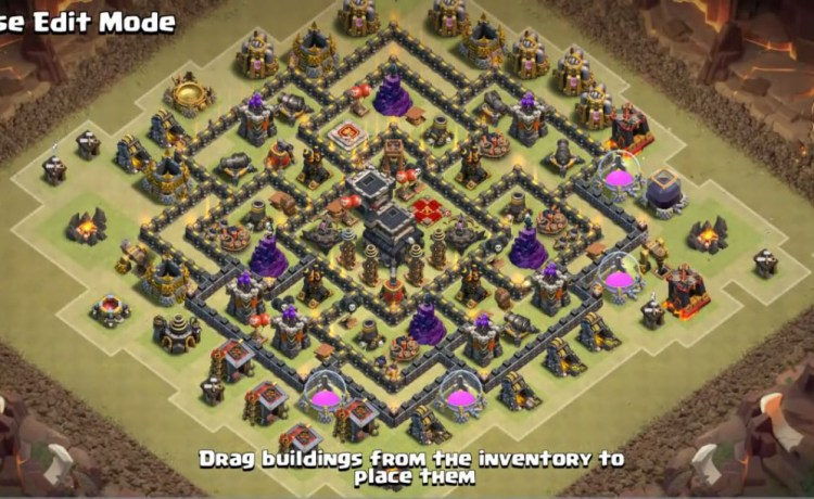 Best Th9 War Bases Anti 2 Star With Bomb Tower 2016 Cocbases
