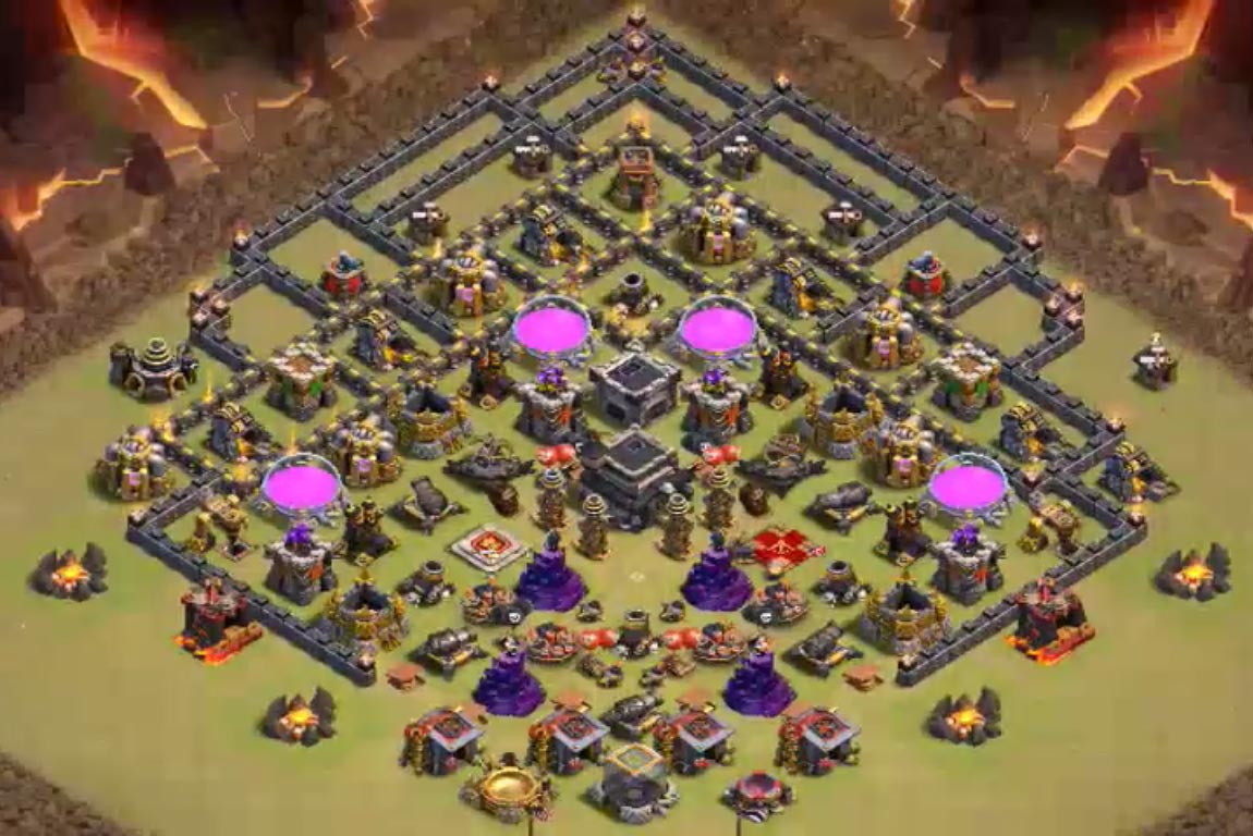 8 Best TH9 Trophy Bases With Bomb Tower 2016 2017 - Cocbases