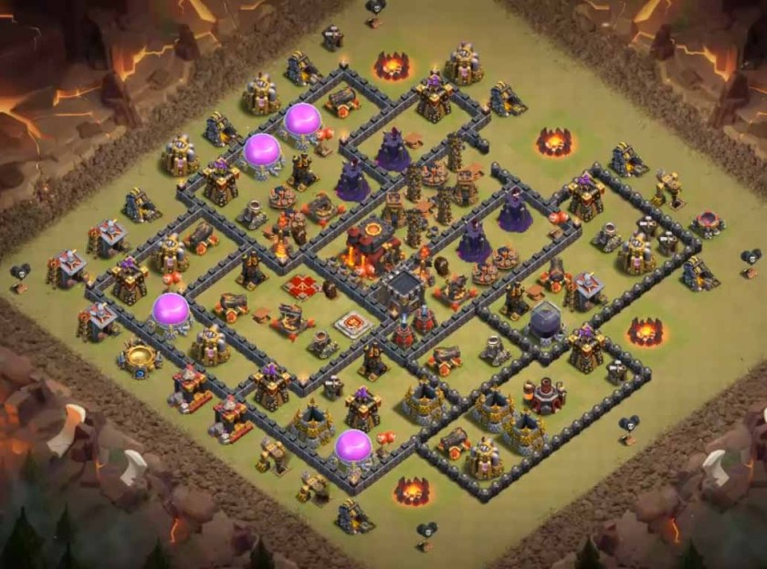 th10 war base anti bowlers with bomb tower