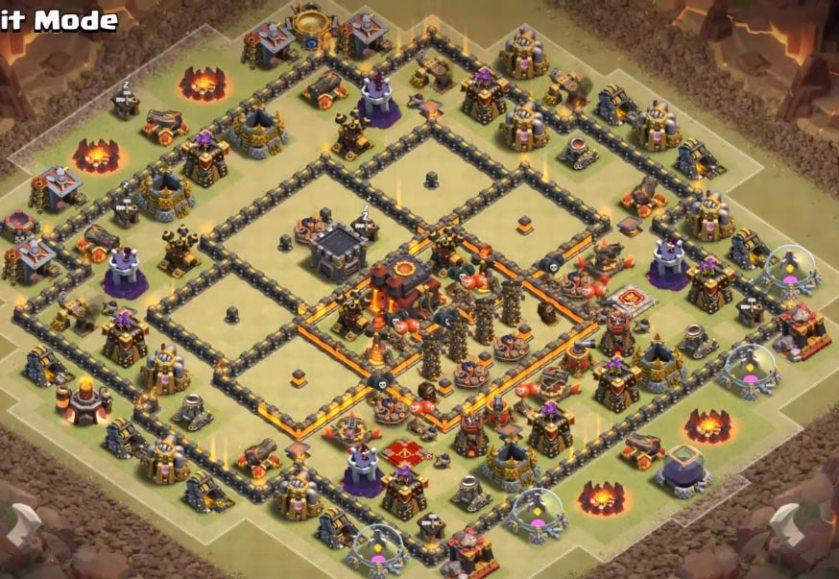 best th10 war base anti 3 stars
