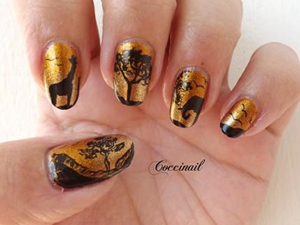 Nail art Savane Dorée