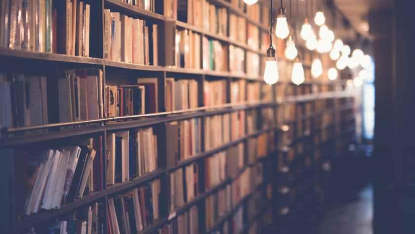 light inside library