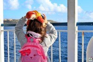 Bambini traghetto Gozo