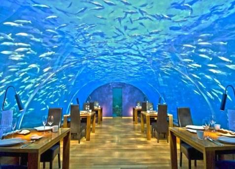 Cena romantica sott'acqua Maldive