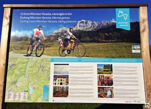 Cycling route Lago Santa Croce - Cocco on the road