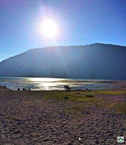 In riva al Lago Santa Croce - Cocco on the road