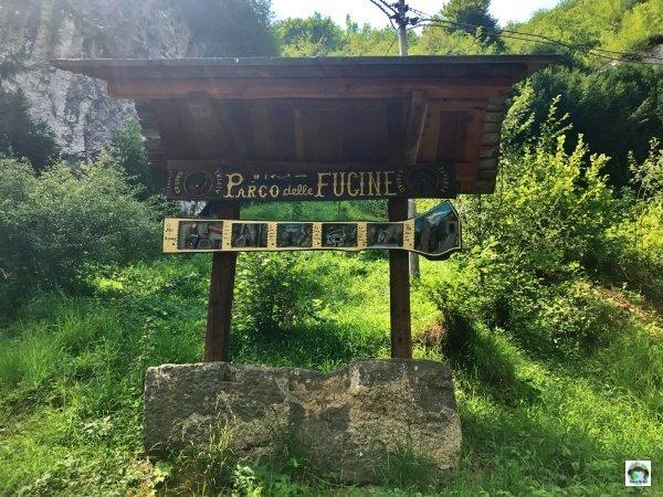 Parco Fucine Casto entrata