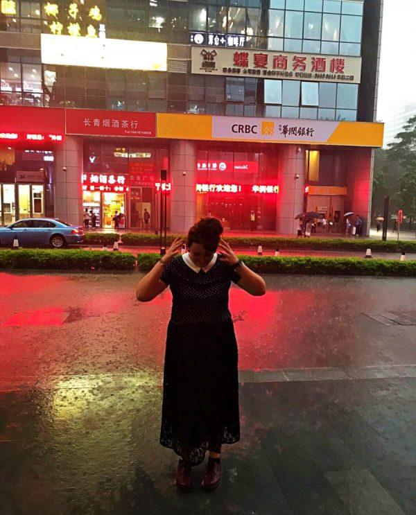 Shenzhen durante il tifone