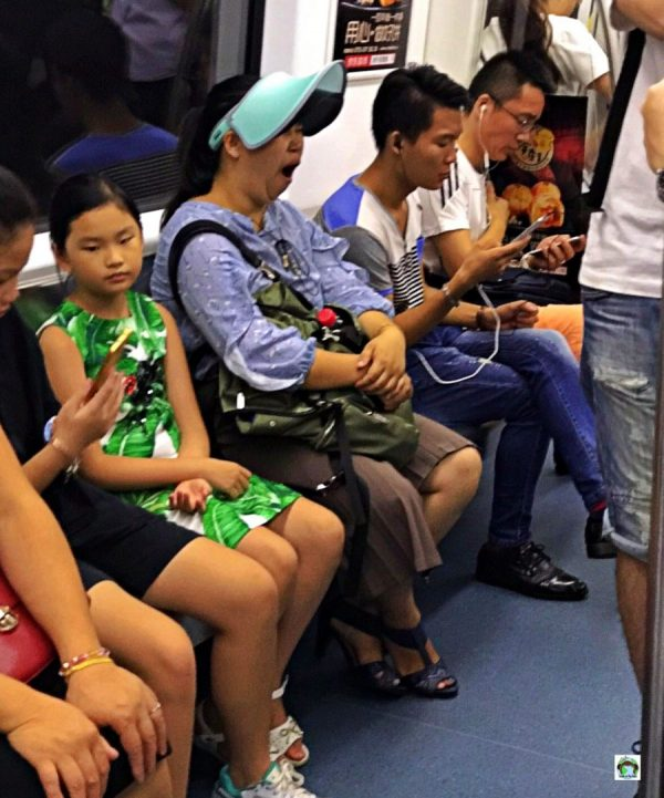 Shenzhen Cina vita in metropolitana