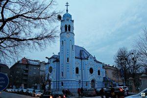 Cosa vedere a Bratislava Chieasa Blu Bratisava - Cocco on the road