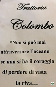 Trattoria Colombo a Varazze - Cocco on the road