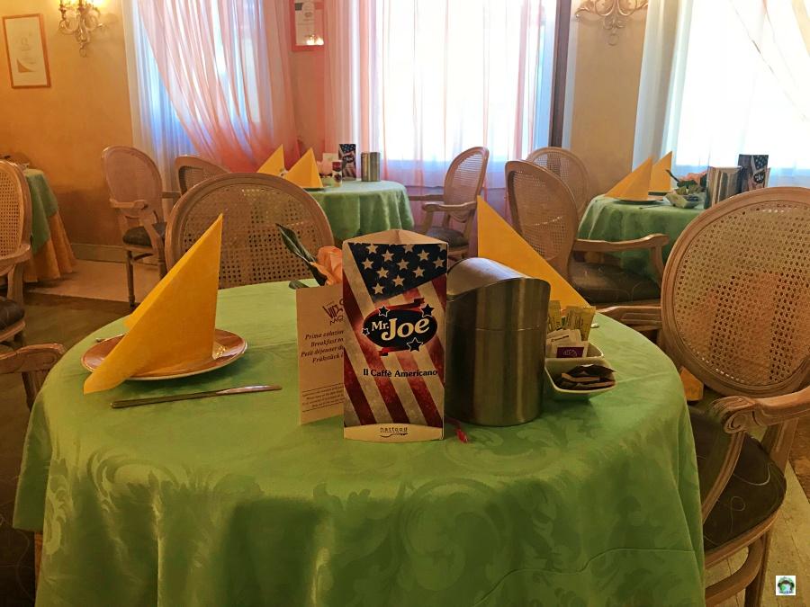 Sala colazione al Vip's Motel
