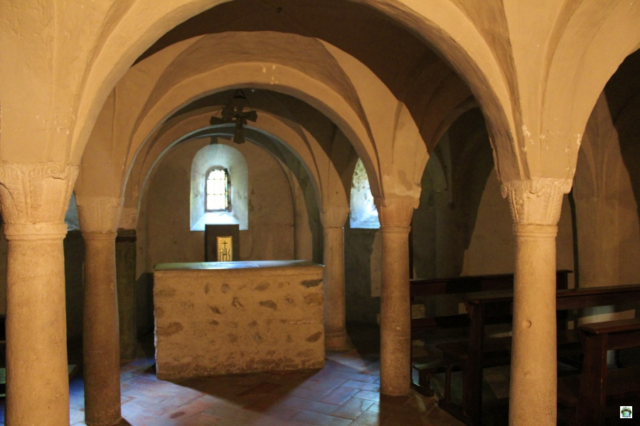 La cripta della Chiesa di Agliate