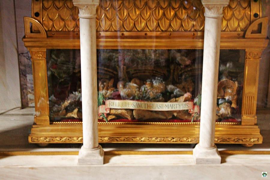 Le reliquie si San Biagio Agliate