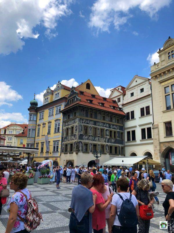 Praga piazza città vecchia