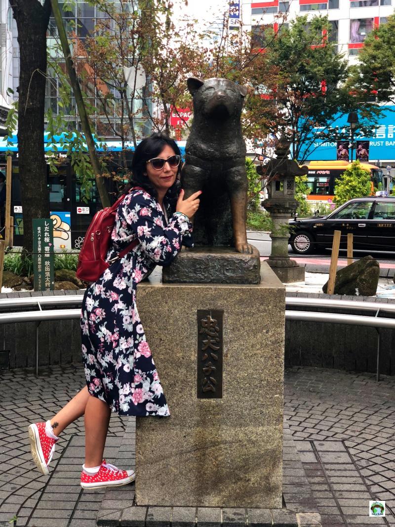 La statua di Hachiko a Tokyo