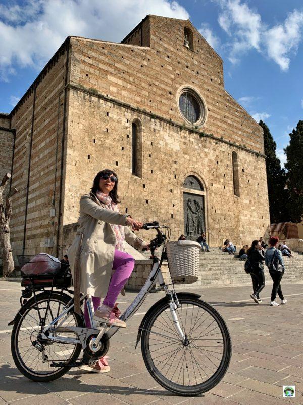 bicicletta per Teramo Duomo