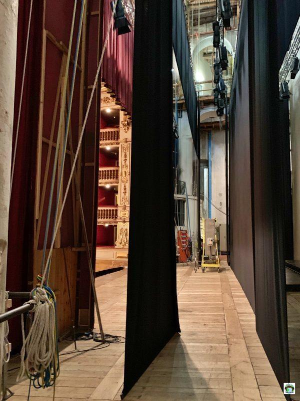 dietro le quinte palco del Teatro Grande Brescia