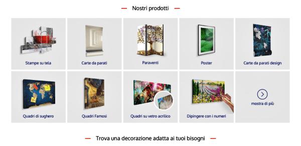prodotti decorazioni murali Bimago