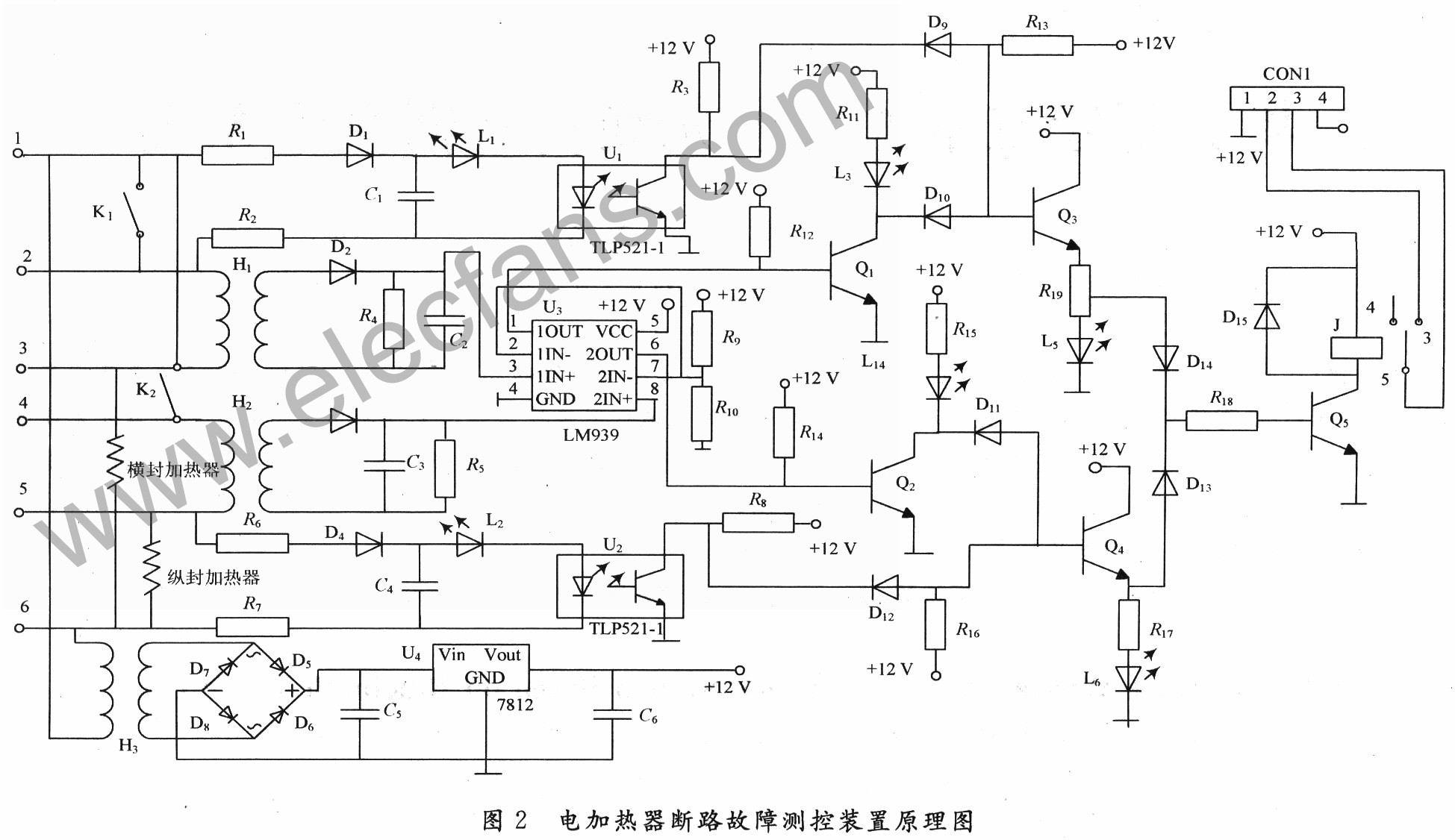 電加熱器斷路故障測控原理及電路圖 | 研發互助社區