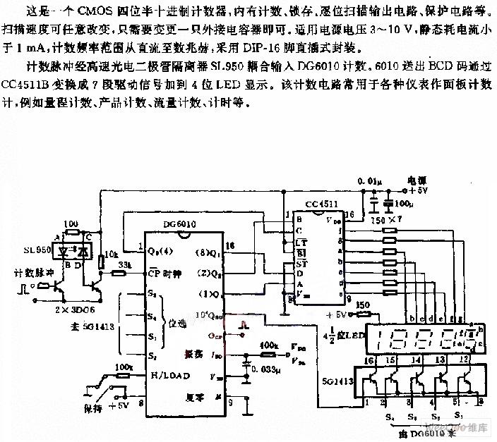 一個CMOS四位半十進位計數器電路圖 | 研發互助社區