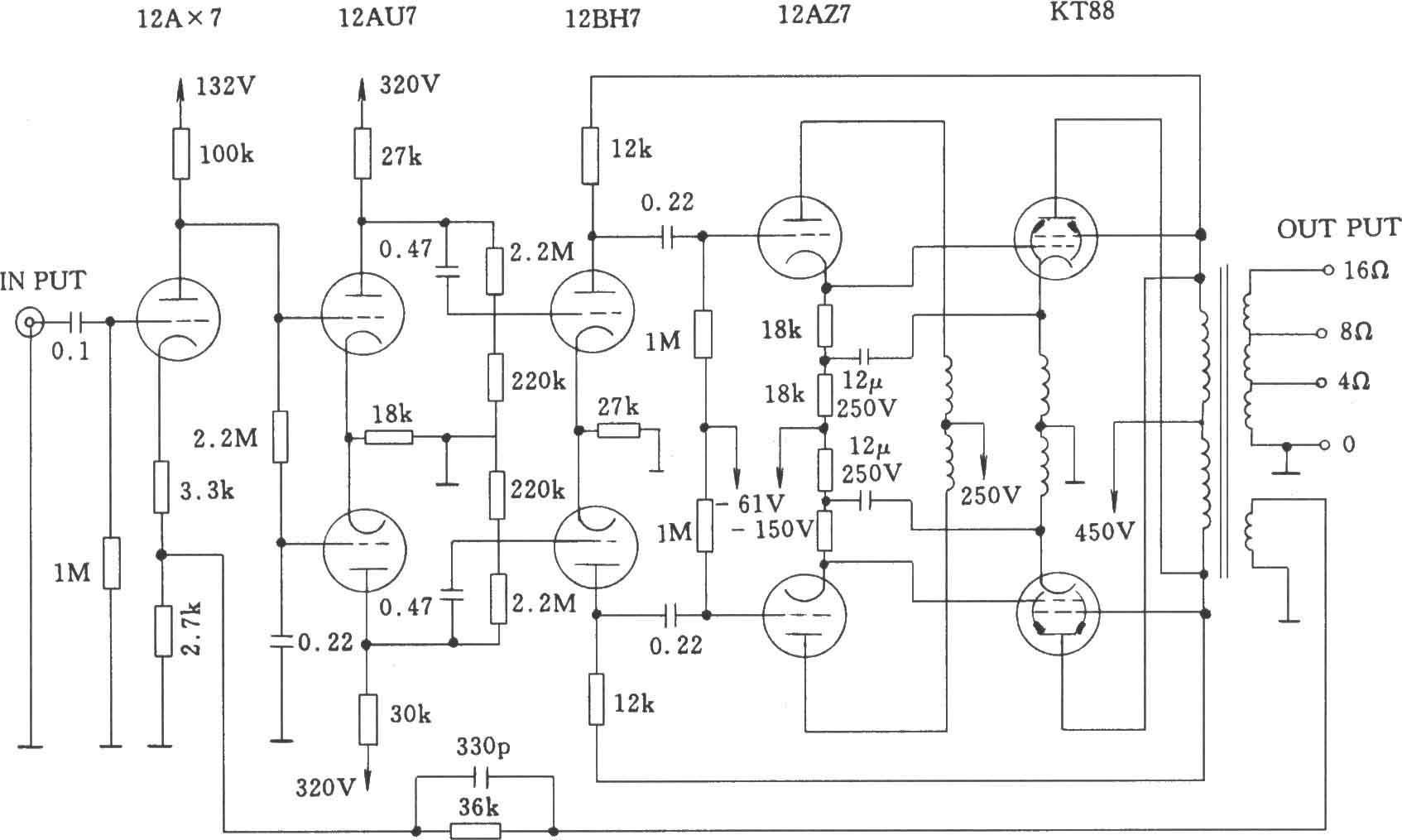 電子管麥景圖MC-275(McIntosh 275)功率放大器電路圖   研發互助社區