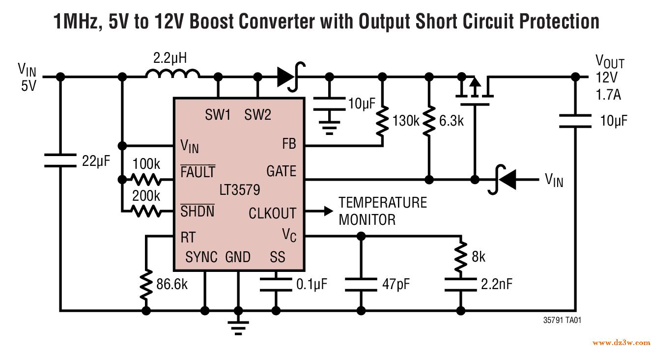 帶故障保護功能的升壓/負輸出DC/DC轉換器LT3579介紹   研發互助社區