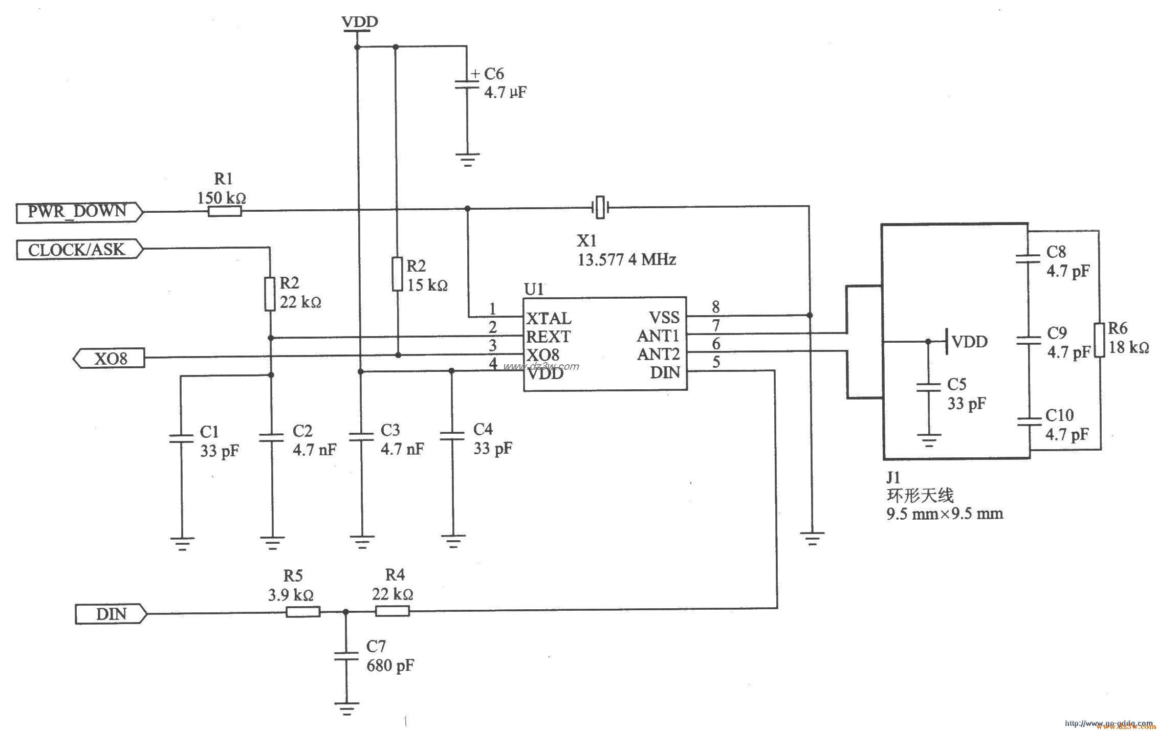 868MHz FSK發射器nRF902應用電路圖 | 研發互助社區