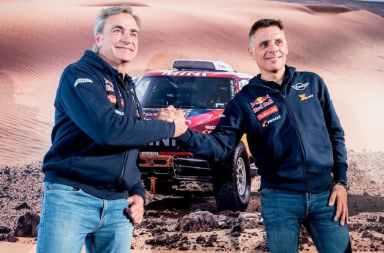 Carlos Sainz y Lucas Cruz