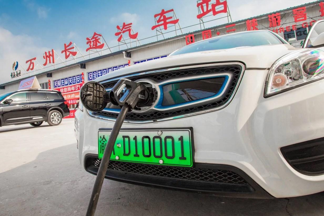 matriculas verdes en China coches electricos