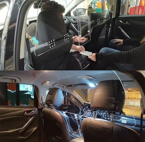 mamparas para taxi
