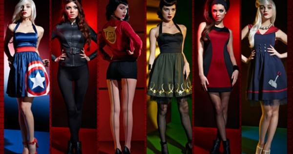 Marvel lanza lnea de ropa para mujeres inspirada en Los Vengadores FOTOSVIDEO  Cochinopop