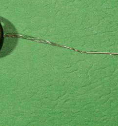 the six balls along the main part of the array are the active electrodes the ground or reference electrode is the larger ball on a separate wire  [ 1690 x 864 Pixel ]