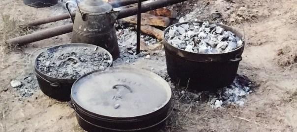 dutch ovens with coals