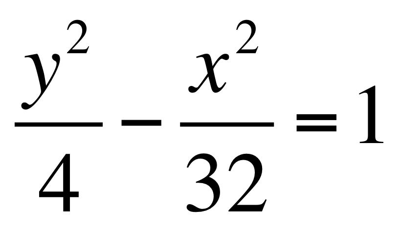 Finding Equation Of Hyperbola With Foci And Asymptotes