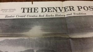 Denver Post Easter Sunrise 1947 smaller