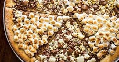 Pizza dulce de chocolate